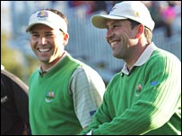 Sergio Garcia and Jose Maria Olazabal