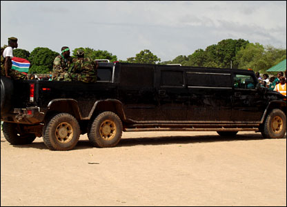 President Jammeh's limousine