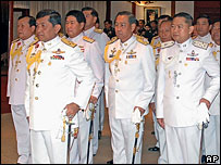 Leaders of Thailand's coup in Bangkok - 22/9/06