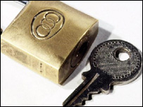 Padlock and key, BBC