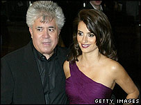 Pedro Almodovar (left) with Penelope Cruz