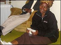 Nokuthula's aunt Chiedza counts the Lobola money