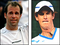 Greg Rusedski and Andy Murray