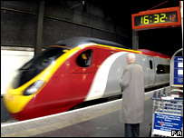 The Virgin train at Euston Station 