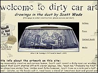 Dirty Car Art website