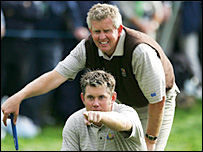 Colin Montgomerie (top) and Lee Westwood