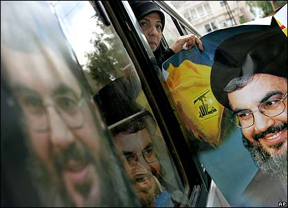 Posters of Sheikh Nasrallah in Beirut