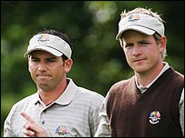 Sergio Garcis and Luke Donald
