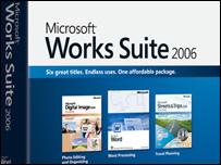 Caja de Microsoft Works Suite.