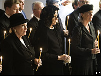 Ceremony in the crypt of the Roskilde Cathedral in Roskilde, Denmark, 22 September