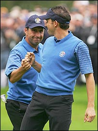 Jose Maria Olazabal and Sergio Garcia