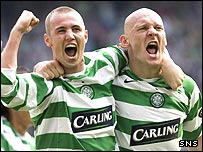 Kenny Miller and Thomas Gravesen scored their first goals for Celtic