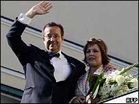 Estonian President Toomas Hendrik Ilves and his wife Evelin