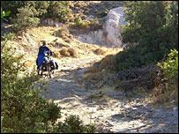 Richard Mason struggling on road (track) in Turkey