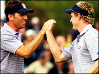 Sergio Garcia and Luke Donald