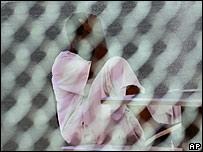 Prisionero en Guantánamo.