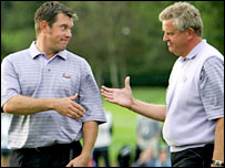 Europe's Lee Westwood and Colin Montgomerie
