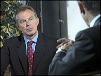 Tony Blair on the Sunday AM programme