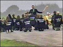 Protest ceremony