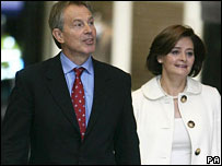 Tony and Cherie Blair attend a church before the Labour Conference