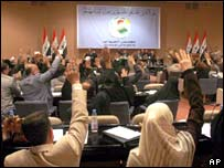 Iraqi parliament in session, 5 September