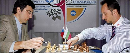 Vladimir Kramnik and Veselin Topalov