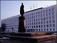 White House government buildings in Kalmykia