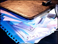 Filofax full of personal information, Eyewire