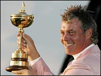 Darren Clarke with the Ryder Cup