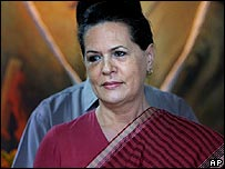 Sonia Gandhi, president of the Congress Party