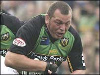 Steve Thompson in action for Northampton recently