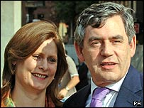 Gordon Brown, with wife Sarah