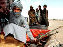 Taleban soldiers on the Iran border, 2001