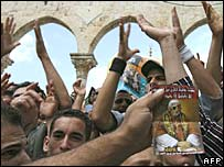 Palestinian Muslims demonstrate against the Pope's remarks on Islam, 22 September