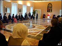 Pope Benedict with Muslim envoys