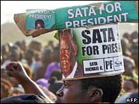 Supporter of Michael Sata