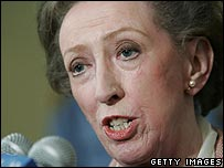 British foreign secretary Margaret Beckett