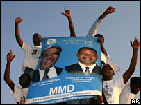 Supporters of President Levy Mwanawasa