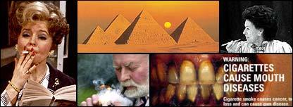Imágenes de la polémica en torno al cigarrillo.