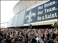 Superdome fans at reopening ceremony