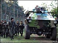 Security forces members raid Pavon jail in Guatemala