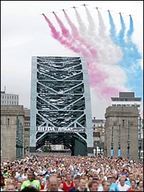 The Great North Run in Newcastle