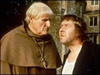 Rab C Nesbitt and a 'Buckfast' monk character