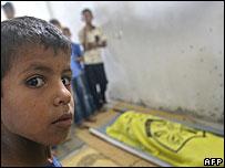 Child's funeral in Gaza