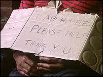Homeless card