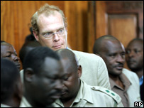 Thomas Cholmondeley in court in Nairobi