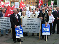 The pensions rally in Manchester