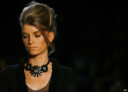Model wearing necklace