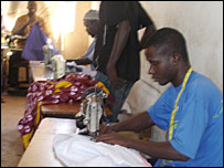 Tailors in Serrekunda market, The Gambia