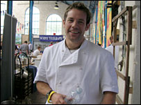 Mark Tebbutt. chef at the Foxhunter
